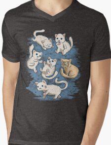 Kitty Litter Mens V-Neck T-Shirt