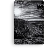 Landscape and architecture wall art black and white - The Bold Bridge Canvas Print