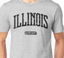Illinois Represent (Black Print) Unisex T-Shirt