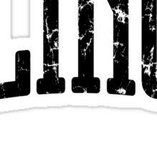 Illinois Represent (Black Print) Sticker