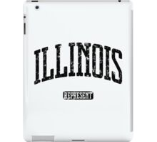 Illinois Represent (Black Print) iPad Case/Skin