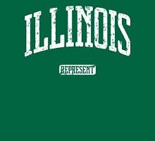 Illinois Represent (White Print) Unisex T-Shirt