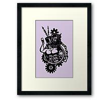 BBW - Buxom Steampunk Tart (line version) Framed Print