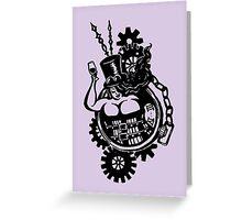 BBW - Buxom Steampunk Tart (line version) Greeting Card