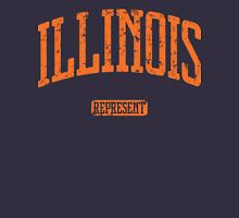 Illinois Represent (Orange Print) Unisex T-Shirt