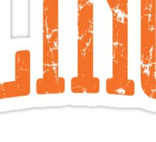 Illinois Represent (Orange Print) Sticker