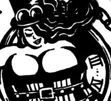 BBW - Buxom Steampunk Tart (line version) Sticker