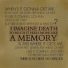 I imagine death so much it feels more like a memory by SevLovesLily