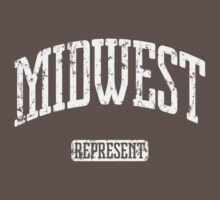 Midwest Represent (White Print) Kids Clothes