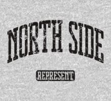 North Side Represent (Black Print) One Piece - Long Sleeve
