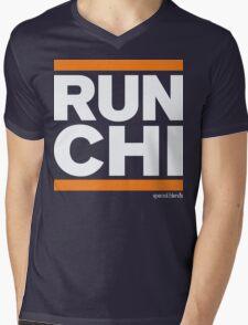 Run Chicago (v1) Mens V-Neck T-Shirt