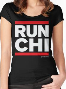 Run Chicago (v2) Women's Fitted Scoop T-Shirt