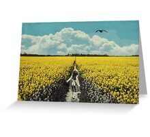 Yellow Flowers/discolored Greeting Card