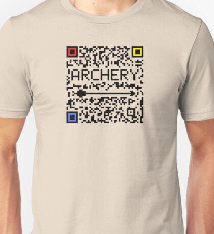 Archery QR code Unisex T-Shirt