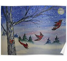 Redbird Moon Poster