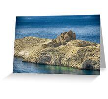 Island in the Mediterranean sea landscape of Croatia color wall art - Mediterraneo Greeting Card