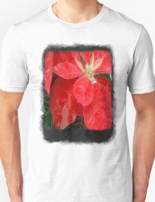 Mottled Red Poinsettia 1 Ephemeral Blank P4F0 T-Shirt