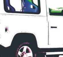 Land Rover Defender White  Sticker