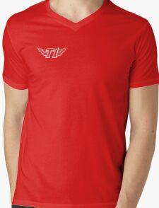SKT T1 simple white logo (right chest) Mens V-Neck T-Shirt