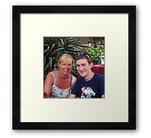 Siân and Chris, Sirmione Framed Print