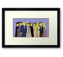 Downton Abbey - Cast of Nine Framed Print