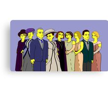 Downton Abbey - Cast of Nine Canvas Print