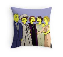 Downton Abbey - Cast of Nine Throw Pillow