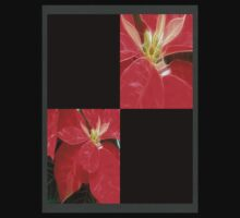 Mottled Red Poinsettia 1 Ephemeral Blank Q2F0 Kids Clothes