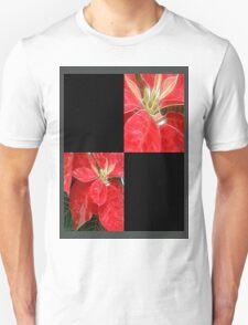 Mottled Red Poinsettia 1 Ephemeral Blank Q2F0 T-Shirt