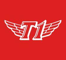 SKT T1 white huge logo One Piece - Short Sleeve