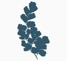 Maidenhair Fern (Blue) Kids Tee