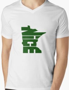 Minnesota Nice Forest Green Mens V-Neck T-Shirt