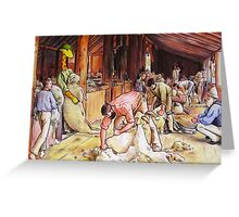 Art Giraffe- Shearing The Rams Greeting Card
