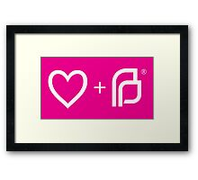 I ♡ Planned Parenthood wp Framed Print