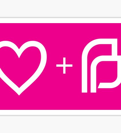 I ♡ Planned Parenthood wp Sticker
