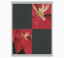 Mottled Red Poinsettia 1 Ephemeral Blank Q6F0 Kids Tee