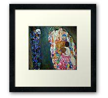 Gustav Klimt - Death and Life Framed Print