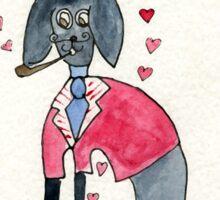 Pooch in Love  by Lollypop Arts Sticker