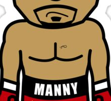 Angry Manny Pacquiao Cartoon by AiReal Apparel Sticker
