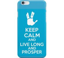 Keep Calm And Live Long And Prosper iPhone Case/Skin