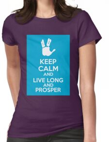 Keep Calm And Live Long And Prosper Womens Fitted T-Shirt