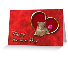 Sweetest Day Squirrel Greeting Card