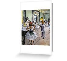 Art Giraffe- The Dance Class Greeting Card