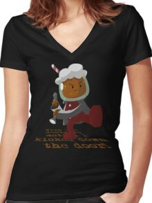 Adventure Time : Root Beer Guy  Women's Fitted V-Neck T-Shirt