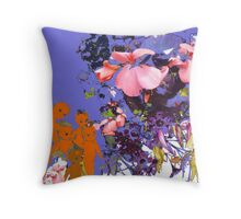 Orange cupies with flowers. Throw Pillow