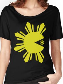 PACMAN PACQUIAO EATING MONEY by AiReal Women's Relaxed Fit T-Shirt