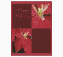 Mottled Red Poinsettia 1 Ephemeral Happy Holidays Q10F1 Kids Clothes