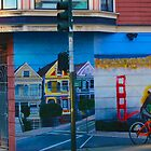 Mural of Bicyclist in San Francisco by David Denny