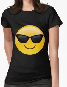 Cool Emoji Womens Fitted T-Shirt
