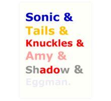 Sonic &Tails & .. Art Print